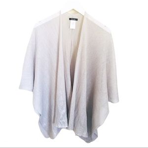 RW & CO. Shawl/Cape. Pewter/Silver. One size